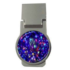 Decorative Flower Shaped Led Lights Money Clips (Round)
