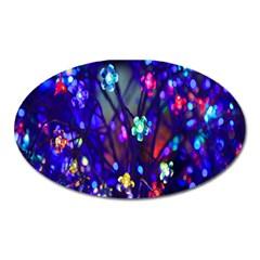 Decorative Flower Shaped Led Lights Oval Magnet