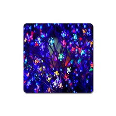 Decorative Flower Shaped Led Lights Square Magnet