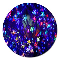 Decorative Flower Shaped Led Lights Magnet 5  (round)