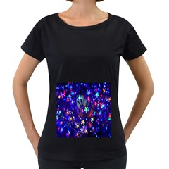 Decorative Flower Shaped Led Lights Women s Loose-Fit T-Shirt (Black)
