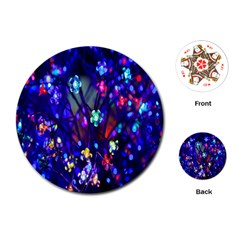 Decorative Flower Shaped Led Lights Playing Cards (Round)