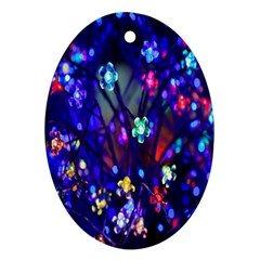 Decorative Flower Shaped Led Lights Oval Ornament (Two Sides)