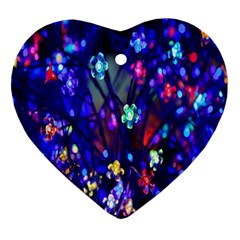 Decorative Flower Shaped Led Lights Heart Ornament (Two Sides)