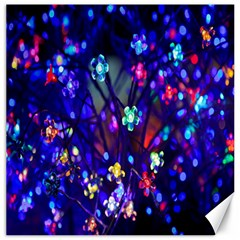 Decorative Flower Shaped Led Lights Canvas 12  x 12