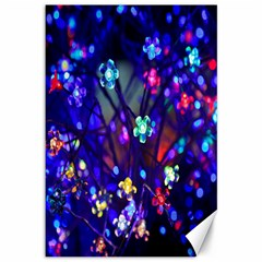 Decorative Flower Shaped Led Lights Canvas 12  x 18