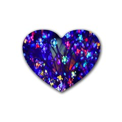 Decorative Flower Shaped Led Lights Rubber Coaster (Heart)