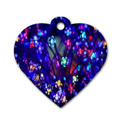 Decorative Flower Shaped Led Lights Dog Tag Heart (two Sides)