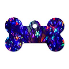 Decorative Flower Shaped Led Lights Dog Tag Bone (One Side)