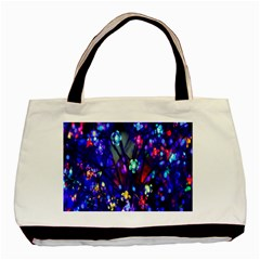 Decorative Flower Shaped Led Lights Basic Tote Bag (two Sides)