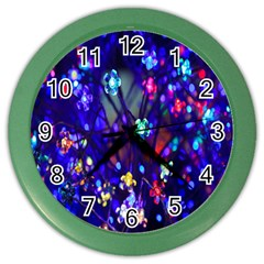 Decorative Flower Shaped Led Lights Color Wall Clocks