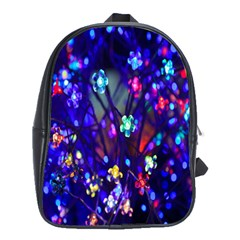 Decorative Flower Shaped Led Lights School Bags(Large)