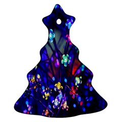 Decorative Flower Shaped Led Lights Christmas Tree Ornament (Two Sides)