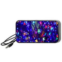 Decorative Flower Shaped Led Lights Portable Speaker (black)