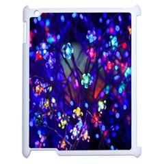 Decorative Flower Shaped Led Lights Apple iPad 2 Case (White)