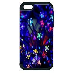 Decorative Flower Shaped Led Lights Apple iPhone 5 Hardshell Case (PC+Silicone)