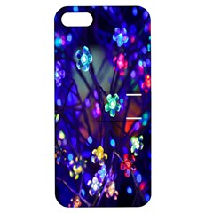 Decorative Flower Shaped Led Lights Apple Iphone 5 Hardshell Case With Stand