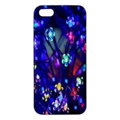 Decorative Flower Shaped Led Lights Apple Iphone 5 Premium Hardshell Case