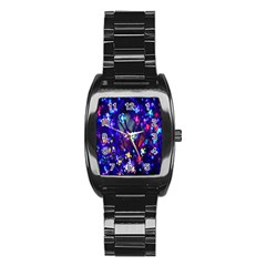 Decorative Flower Shaped Led Lights Stainless Steel Barrel Watch
