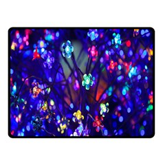 Decorative Flower Shaped Led Lights Double Sided Fleece Blanket (small)