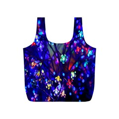 Decorative Flower Shaped Led Lights Full Print Recycle Bags (S)