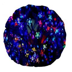Decorative Flower Shaped Led Lights Large 18  Premium Flano Round Cushions