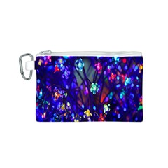 Decorative Flower Shaped Led Lights Canvas Cosmetic Bag (s)