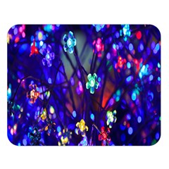 Decorative Flower Shaped Led Lights Double Sided Flano Blanket (Large)
