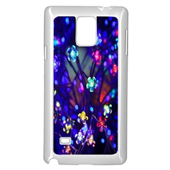 Decorative Flower Shaped Led Lights Samsung Galaxy Note 4 Case (White)