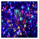 Decorative Flower Shaped Led Lights Large Satin Scarf (Square) Front