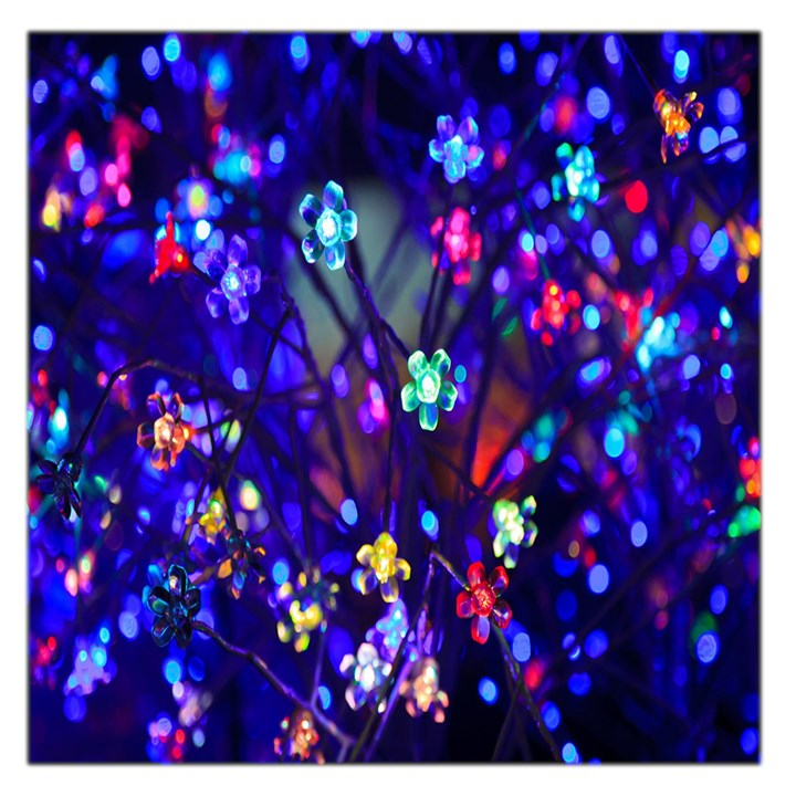 Decorative Flower Shaped Led Lights Large Satin Scarf (Square)