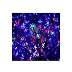 Decorative Flower Shaped Led Lights Satin Bandana Scarf