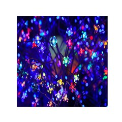 Decorative Flower Shaped Led Lights Small Satin Scarf (Square)