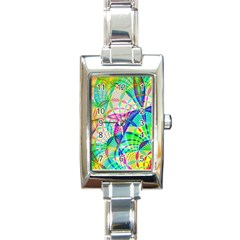 Design Background Concept Fractal Rectangle Italian Charm Watch