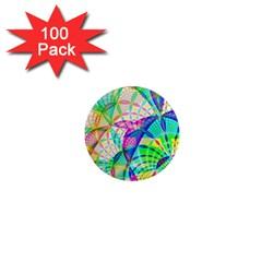 Design Background Concept Fractal 1  Mini Magnets (100 pack)