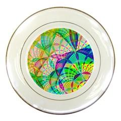 Design Background Concept Fractal Porcelain Plates