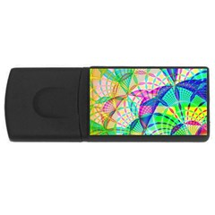 Design Background Concept Fractal USB Flash Drive Rectangular (4 GB)
