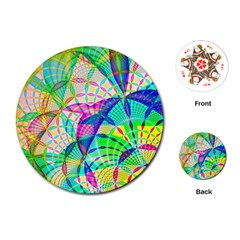 Design Background Concept Fractal Playing Cards (Round)