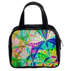 Design Background Concept Fractal Classic Handbags (2 Sides)
