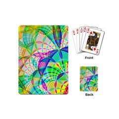 Design Background Concept Fractal Playing Cards (Mini)