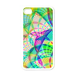 Design Background Concept Fractal Apple iPhone 4 Case (White)
