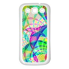 Design Background Concept Fractal Samsung Galaxy S3 Back Case (white)