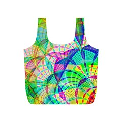 Design Background Concept Fractal Full Print Recycle Bags (S)