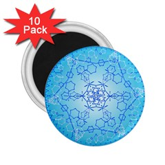 Design Winter Snowflake Decoration 2.25  Magnets (10 pack)