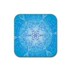 Design Winter Snowflake Decoration Rubber Coaster (Square)