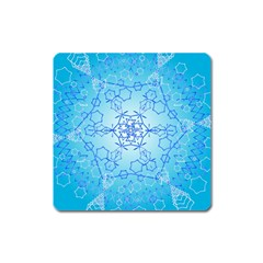 Design Winter Snowflake Decoration Square Magnet