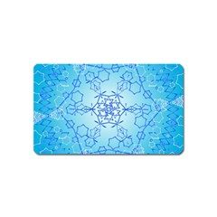 Design Winter Snowflake Decoration Magnet (Name Card)
