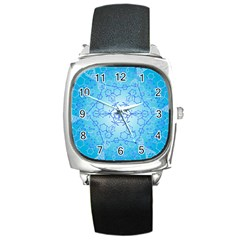 Design Winter Snowflake Decoration Square Metal Watch