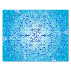 Design Winter Snowflake Decoration Rectangular Jigsaw Puzzl