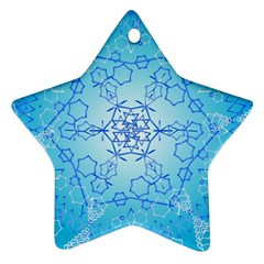 Design Winter Snowflake Decoration Star Ornament (Two Sides)